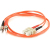 Cables To Go Fiber Optic Duplex Patch Cable - SC Male - ST Male - 16.4ft - Orange