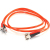 Cables To Go Fiber Optic Duplex Patch Cable - ST Male - ST Male - 6.56ft - Orange