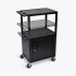 18 In  X 24 In  Shelves Multi Height LP Cart w/ Cabinet & Electric