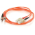 Cables To Go Fiber Optic Duplex Patch Cable - Plenum - 9.84 ft Orange