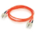 Cables To Go Fiber Optic Duplex Patch Cable - Plenum-Rated - 9.84ft - Orange