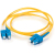 Cables To Go Duplex Fiber Patch Cable - 6.56 ft - Yellow