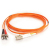 Cables To Go Fiber Optic Duplex Patch Cable with Clips - 19.69 ft - Orange