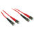 Cables To Go Fiber Optic Duplex Patch Cable (ST/ST) 6.56 ft - Red