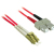 Cables To Go Fiber Optic Duplex Patch Cable (LC/SC) 6.56 ft - Red