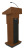 Amplivox S505 Executive Adjustable Sound Column Lectern (Mahogany)