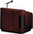 Oklahoma Sound 950 Wood Veneer Tabletop Lectern w/ Sound - Mahogany on Walnut