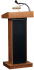 Oklahoma Sound 800x The Orator Manual Floor Lectern w/ Sound - Medium Oak