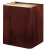 Oklahoma Sound 901 Wood Veneer Lectern Base Mahogany on Walnut
