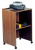 Oklahoma Sound 112 Combo Lectern Base-A/V Cart - Medium Oak