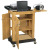 Oklahoma Sound SCL Smart Cart Computer Laptop Lectern - Light Oak