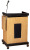 Oklahoma Sound SCL-S Smart Cart Lectern w/ Sound Light Oak