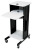 Oklahoma Sound PRC200 Premium Presentation Cart  -  Black/Ivory Woodgrain