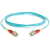 Cables To Go Fiber Optic Duplex Patch Cable, LC/LC, 32.81ft, Aqua