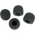 Shure RK242WS 4-Pack PopperStopper Foam Windscreens For 838/839/SM83 Microphones (Gray)