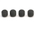 Shure RPM312 4-Pack PopperStopper Foam WIndscreens For Easyflex Overhead Microphones (Charcoal Gray)