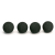 Shure RPM316 4-Pack PopperStopper Snap-Fit Foam Windscreens For BETA54 (Black)