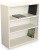 Marvel MSB336-UT Steel Bookcase with 3 Shelves 2 Adjustable (Pumice Color)