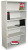 Marvel MSB536-FT Steel Bookcase with 5 Shelves 4 Adjustable (Featherstone Color)
