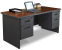 Marvel PDR6630DPDTMA Pronto Double Pedestal Desk 66