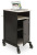 Oklahoma Sound PRC400 Jumbo AV Presentation Cart - Black/Ivory Woodgrain