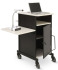 Oklahoma Sound PRC450 Jumbo Plus AV Presentation Cart (Black/Ivory Woodgrain)