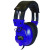 Avid Education AE-808BLUE Lab Headphone - Volume Control - Blue