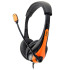 Avid Education AE-36ORANGE Single Plug Headset with Microphone - Orange