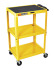 Wilson W42AYE Adjustable Steel AV Cart 3 Shelves (Yellow)