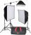 Smith-Victor KSB-1250F 3-Light Fluorescent Economy SoftBox Kit with Mini-Boom (120VAC)