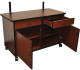 AmpliVox Sound Systems SN3360 Wood Flat Screen TV Console
