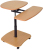 AmpliVox Sound Systems SN3390 Hydraulic Adjustable Multimedia Cart with Teak Color Shelves