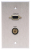 Comprehensive WP-1520-E-P-SB Single Gang Wallplate-Stainless-HD15, Stereo Mini - Passthru