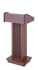 Sound-Craft LCW  Lectern Two Walnut Floor Lectern
