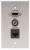 Comprehensive Single Gang Wallplate-Stainless-HD15, Stereo Mini, RJ45 Passthru