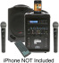 Califone PA419-Q2 Wireless Portable PA System with 2 Wireless Microphones