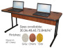 CEF BASE36-OOB Basic Computer Table with Electric Package - 36W/25D/26.5H - Oak