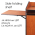 CEF J4 Side Folding Shelf, High Left