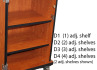 CEF D2 (2) Adjustable Shelves