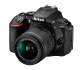 Nikon D5600 24.2 MP DX-format DSLR Camera with 18-55mm Lens
