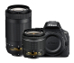 Nikon D5600 24.2 MP DX-format DSLR Camera with 18-55mm and 70-300mm Lenses