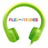 HamiltonBuhl Flex-Phones Single Construction Foam Headphones - Green