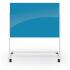 Mobile Magnetic Glass Board, Light Blue, 72.8