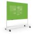 Mobile Magnetic Glass Board, Lime Green, 72.8