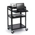 AV Notebook Cart with 6-Outlet Electrical, 4-inch Casters