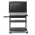 Flat Panel Cart with Laptop Shelf, for 37 to 52-inch Monitors with 6-Outlet Electrical