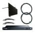 RF Venue DISTRO9 HDR Antenna Distribution System and Diversity Fin Wall-Mount Antenna, Black, Bundle