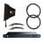 RF Venue DISTRO9 HDR Antenna Distribution System and Diversity Fin Antenna Bundle