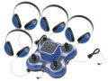 Califone 1114BL-4 Listening Center Mini Stereo Jacbox w/4-Headphones (Blue)