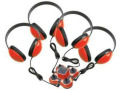 Califone 1114RD-4 Listening Center Mini Stereo Jacbox w/4-Headphones (Red)